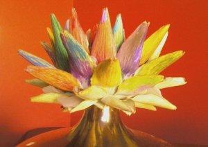 Painted artichoke in vase